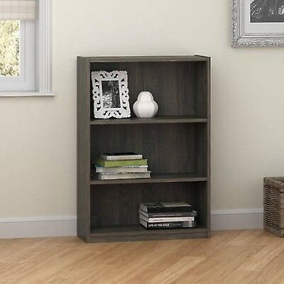 Bookcase 3 Shelf Storage Bookshelf Wood Furniture Adjustable Book Shelving
