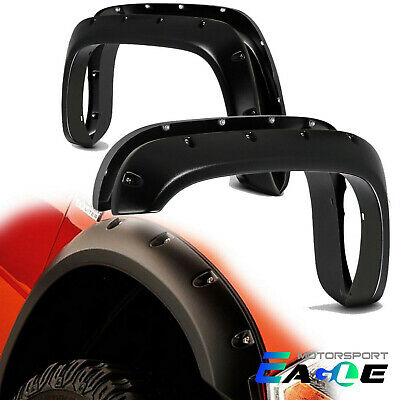 For 94-02 Dodge Ram 1500 2500 Textured Black Rivet Pocket Style Fender Flares US