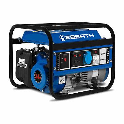 EBERTH 1000 Vatios generador eléctrico agregado de energia emergencia gasolina