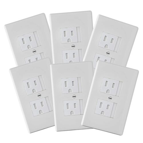 6-Pack Safety Innovations Self-closing (1Screw) Standard Outlet Covers