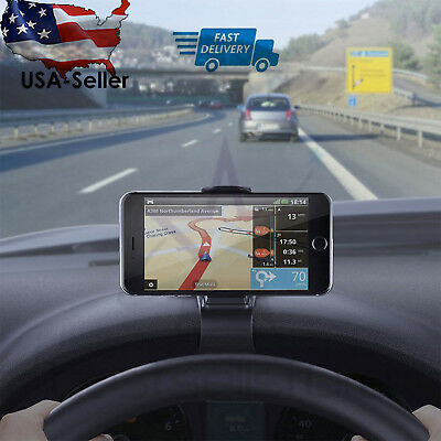 Universal Car Dashboard Phone Clip Holder Mount Stand Cradle HUD Design-esfranki