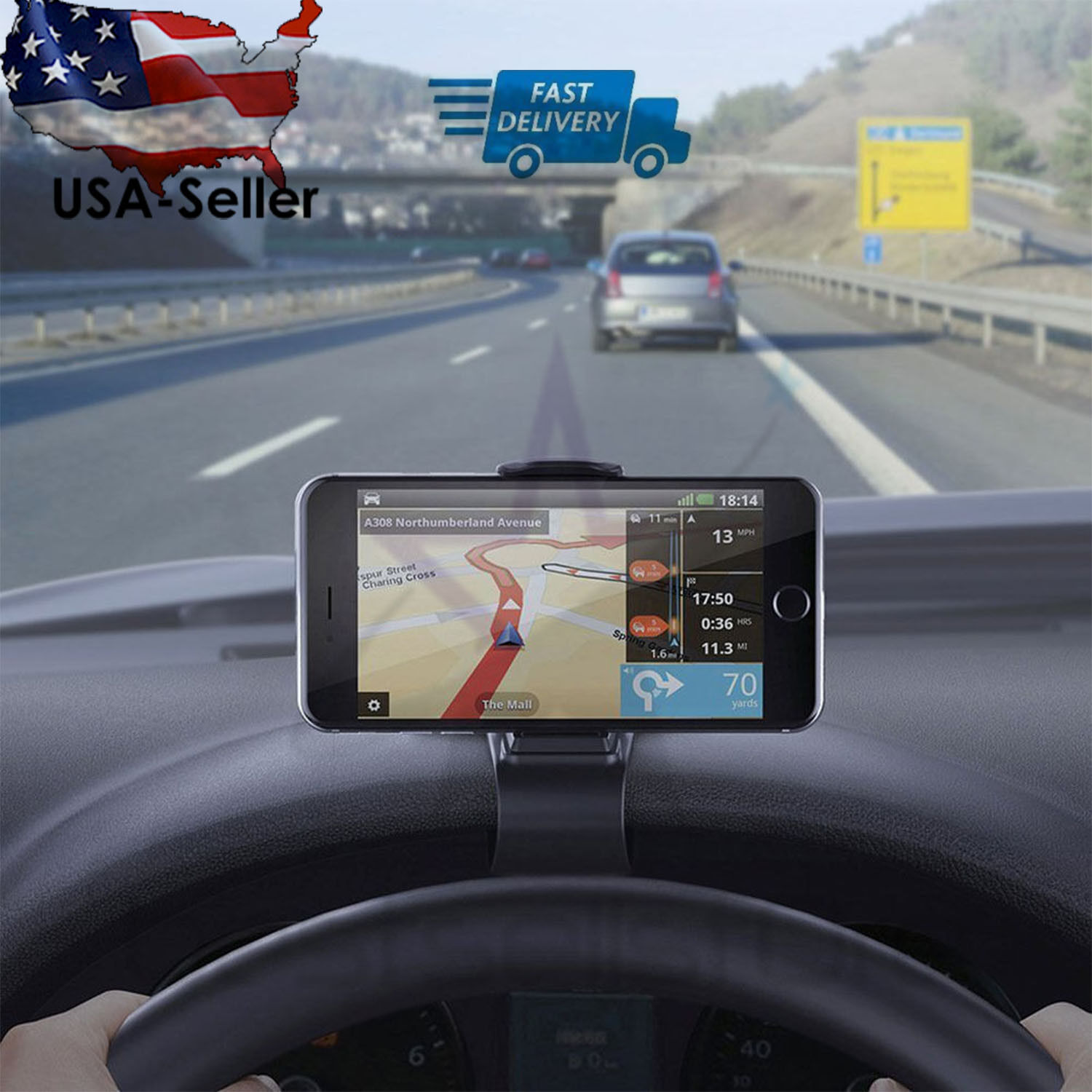 Universal Car Dashboard Phone Clip Holder Mount Stand Cradle