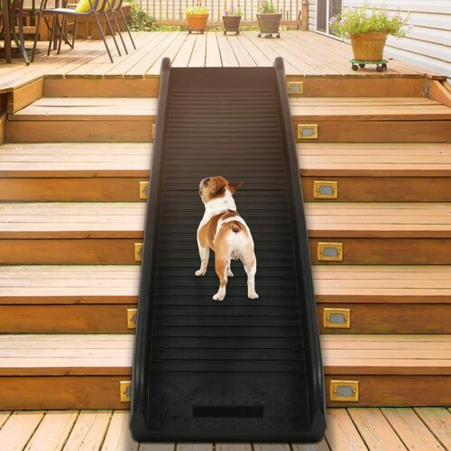 Lonabr Folding Dog Cat Pet Safety Ramp Step Gear for Car SUV Pool Stairs Trucks