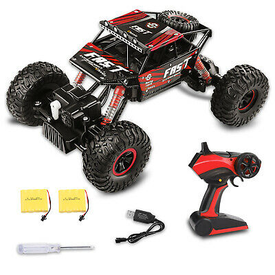 4WD RC Monster Truck Off-Road Vehicle 2.4G Remote Control Buggy Crawler Car Red 4wd Off Road Truck