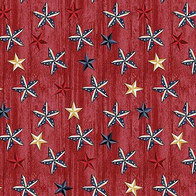 auf Rot Holz B / G-Fat Quarter-Benartex-Quilts Of Valor (Patriotische Sterne)