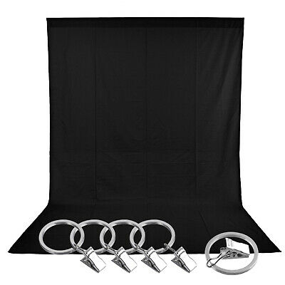 Neewer 5 x 10 ft/1.5 x 3M Collapsible Backdrop Background (Black)