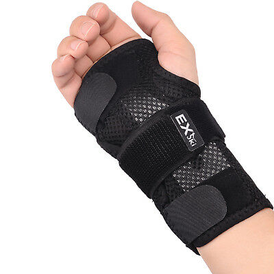 (Double Removable Splints Hand Support Brace for Carpal Tunnel Left Right 1 Pair )