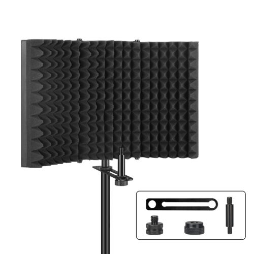 Aokeo Studio Microphone Isolation Shield Soundproof Filter Vocal Recording Foam