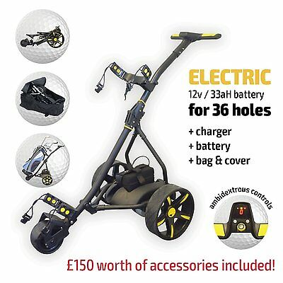 Electric Motorised Golf Trolley From Rider - Inc Battery, Charger & FREE Accs