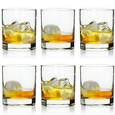 Whiskey Glasses Set of 6 Scotch Bourbon Tumbler 10 oz Rocks Fashion Drinking Glass
