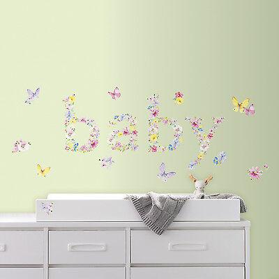 Butterfly Nursery Decor (New Kathy Davis BABY BUTTERFLIES WALL DECALS Butterfly Nursery Stickers)