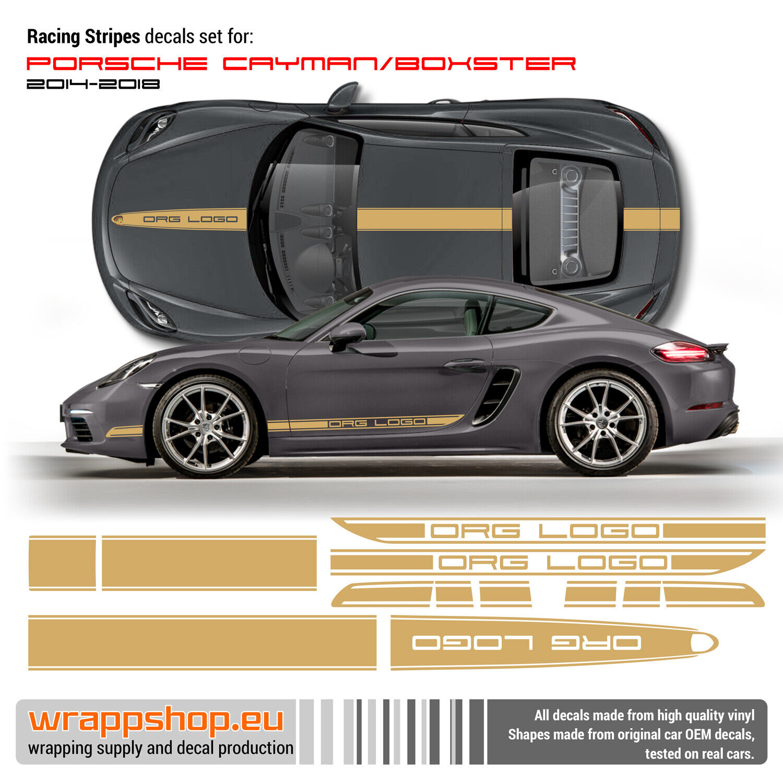 Racing Stripes Set For Porsche Cayman Boxster 2014 2018 Ebay