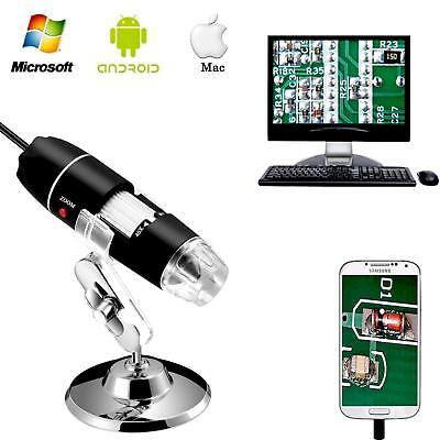 1600x 8led Usb 2.0 Digital 2mp Microscope Endoscope Zoom Camera Magnifierstand