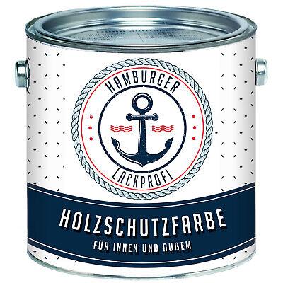 PU Holzschutzfarbe GLÄNZEND Schwarzbraun RAL 8022 Braun Wetterschutzfarbe