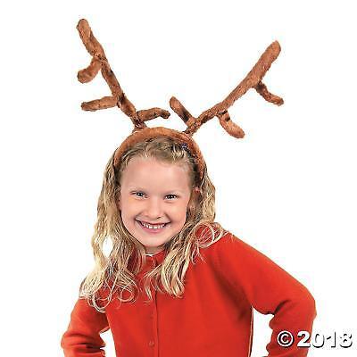 Kids Reindeer Antlers (Soft Christmas Reindeer Antlers Deluxe Plush Horns Costume Kids Adults)