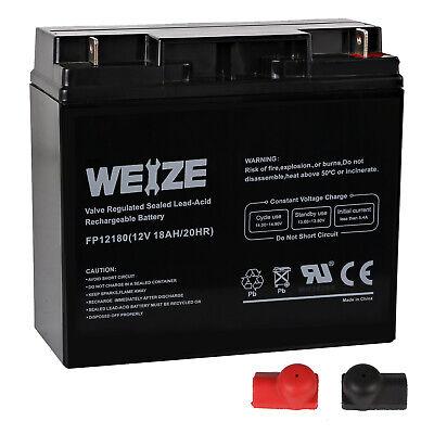 Weize AGM 12V 18AH SLA Battery replaces np18-12 51814 6fm17 6-dzm-20 6-fm-18 NEW