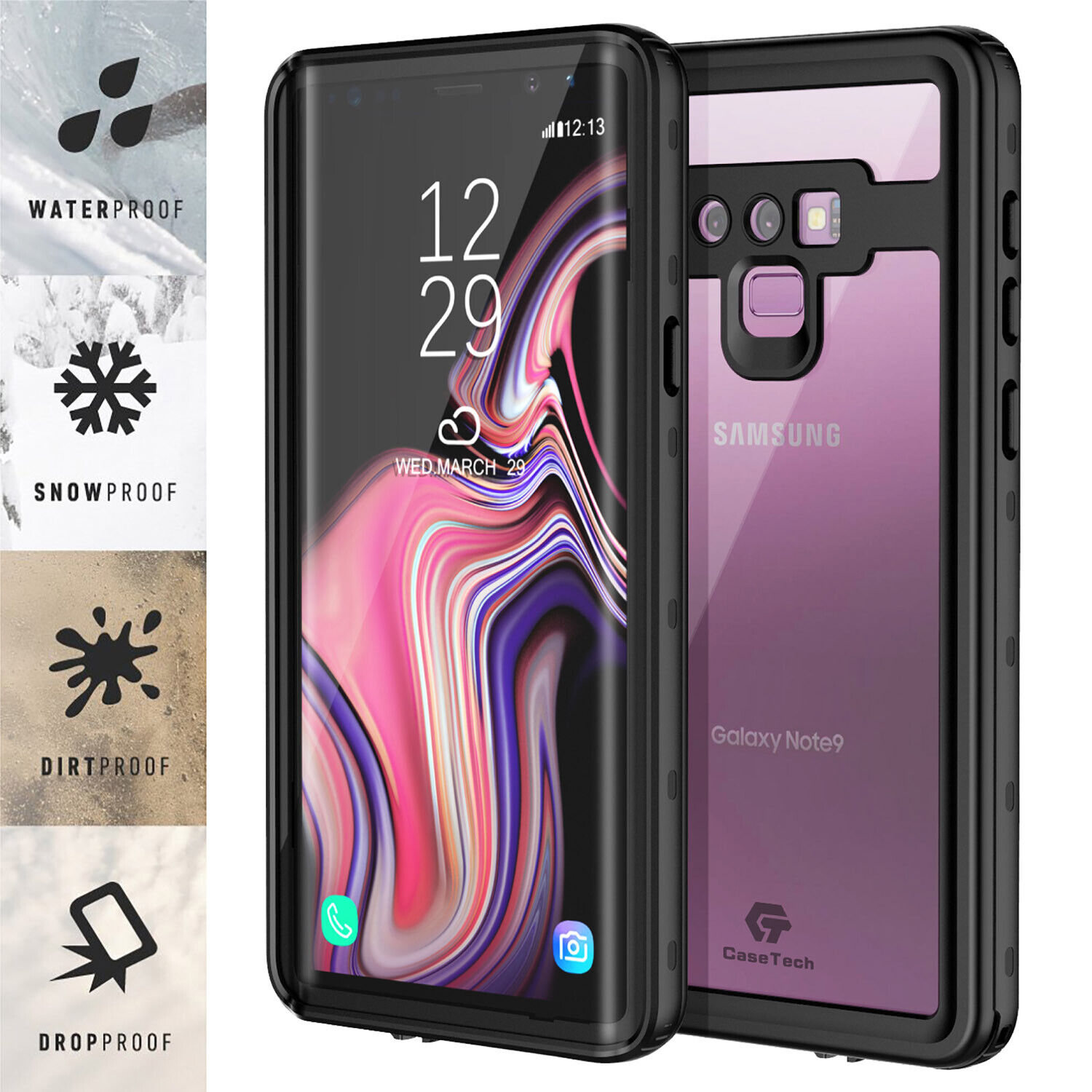 Galaxy Note 9 Case Waterproof Shockproof Dirtproof Heavy Dut