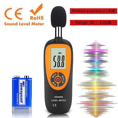 Digital Sound Pressure Tester Level Meter 30130db Decibel Noise Measurement Us