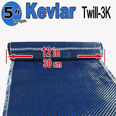 1 Ft X 5 Ft - Made With Kevlar-carbon Fiber Aramid Fabric- 3k2k-200g - Blue
