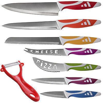 Professional Chef Knife Set Multi Use 8pc for Available Kitchen - Slice Cut