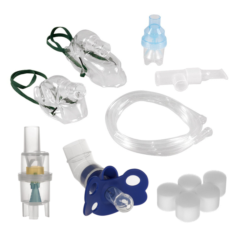 Inhalator Zubehör Maske Vernebler Schnuller Filter Schlauch Inhaliergerät Set
