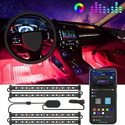 Govee Car LED Lights, Interior Car Lights with APP and Box Control