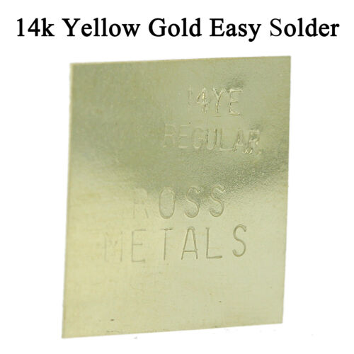 14K Yellow Gold Easy Regular Solder One Gram Plate For Jewelry Repair Soldering