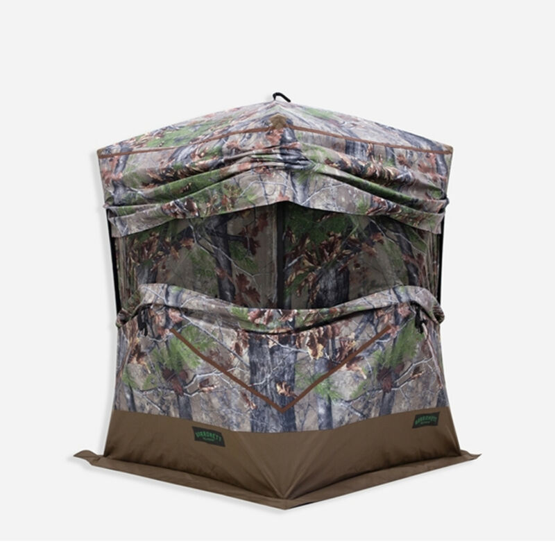 Barronett 3 Person Pop Up Hunting Blind Ground Tent, Backwoods Camo (Used)