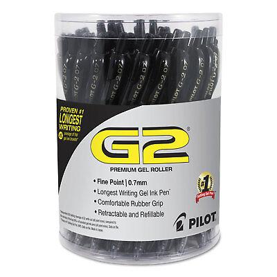 Pilot G2 Premium Retractable Gel Ink Pen Refillable Black Ink .7 Mm 36pack