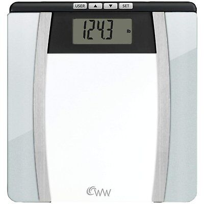 Weight Watchers by Conair Body Analysis Glass Bathroom Scale; Measures Body...