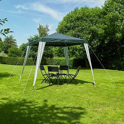 Portable 2.4m Gazebo Party Tent PE Garden Canopy Marquee Waterproof Outdoor