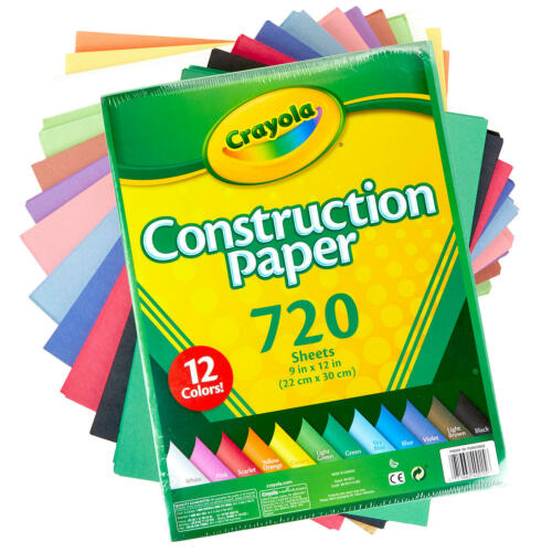Crayola Construction Paper, 12 Assorted Colors (720 ct.)