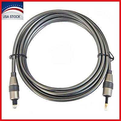 Toslink to Digital Mini 3.5mm Optical Audio Cable SPDIF Optic Fiber Plug 6 Feet 3.5 Mini Cable