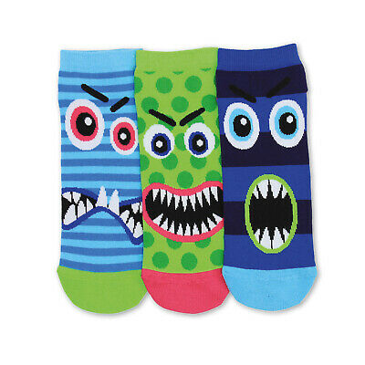Socken Monster Füßlinge Oddsocks in 39-46 Strümpfe Gesichter bunt im 3er Set