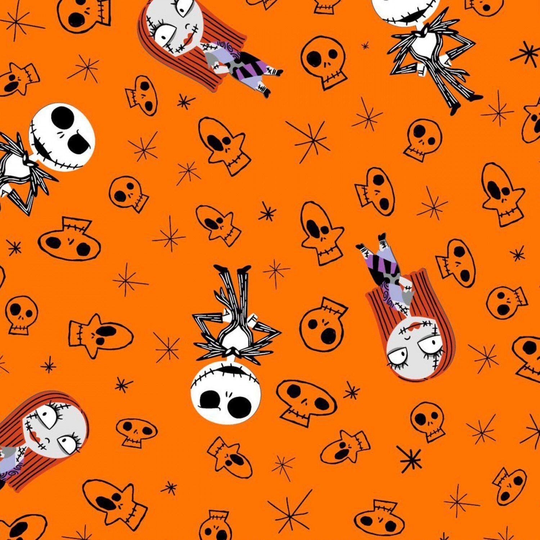 Disney 67238 Nightmare Before Christmas Skulls 100% flannel
