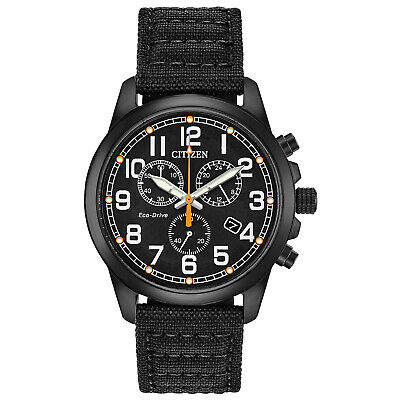 Citizen Eco-Drive Men's Chronograph Date Display Black 39mm Watch AT0205-01E