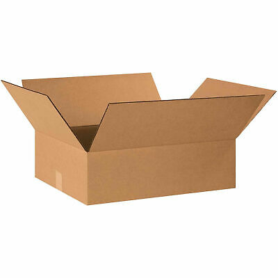 20 X 16 X 6 Flat Cardboard Corrugated Boxes 65 Lbs Capacity Ect-32 Lot Of