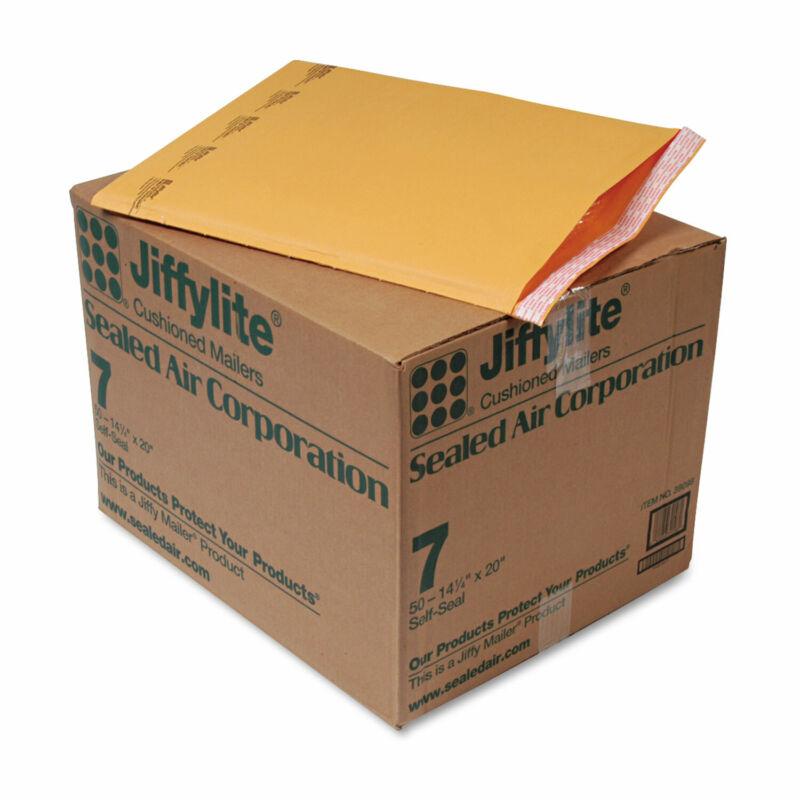 Sealed Air Jiffylite Self-Seal Mailer Side Seam #7 14 1/4 x 20 Golden Brown 50