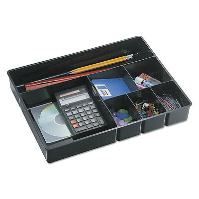 Officemate Deep Desk Drawer Organizer Tray 9-comp Black 21322
