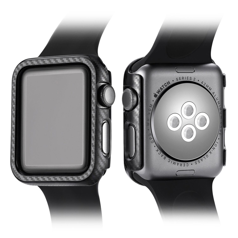 sale retailer 0f921 18789 Details about Matte Carbon Fiber Case Cover For Apple Watch Series 4 3 3 2  1 38 42mm 40mm 44mm