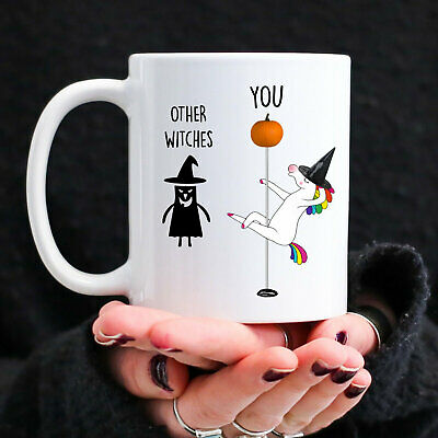 Halloween Unicorn Pole Dancer Mug Funny Best Friend Happy Birthday Gift