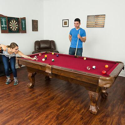 Billiard Pool Table 87 Inch Brighton Cues Balls Chalk Triangle Brush
