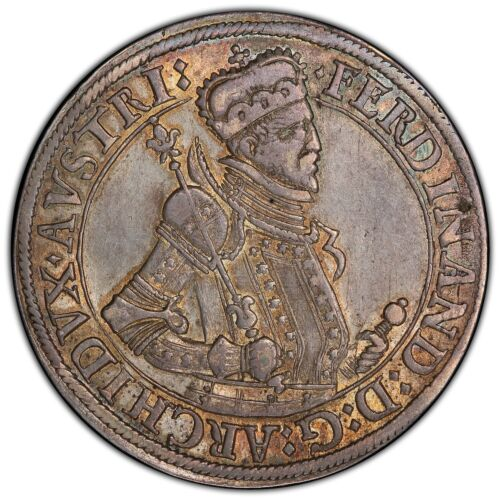 AUSTRIA 1564-95 THALER/TALER SILVER COIN ALMOST UNCIRCULATED PCGS CERTIFIED AU58