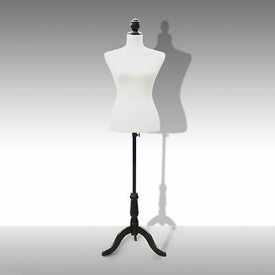 Dress Form Female Mannequin Torso Dressmaker Stand Display White