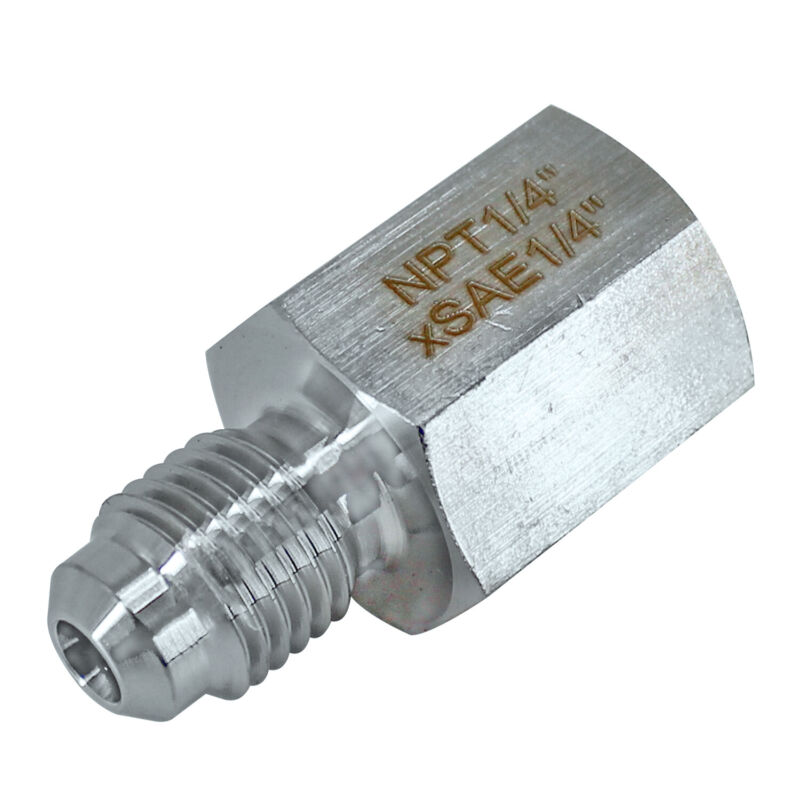 "HFS(R) 1/4"" NPT Female X 1/4"" Sae Male,Stainless Steel 304, Mech Pip, Adaptor"