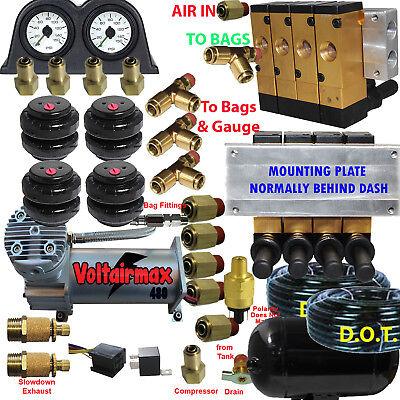 Air Ride Suspension Manifold Valve 3/8 npt Manual Air Bag Control ...