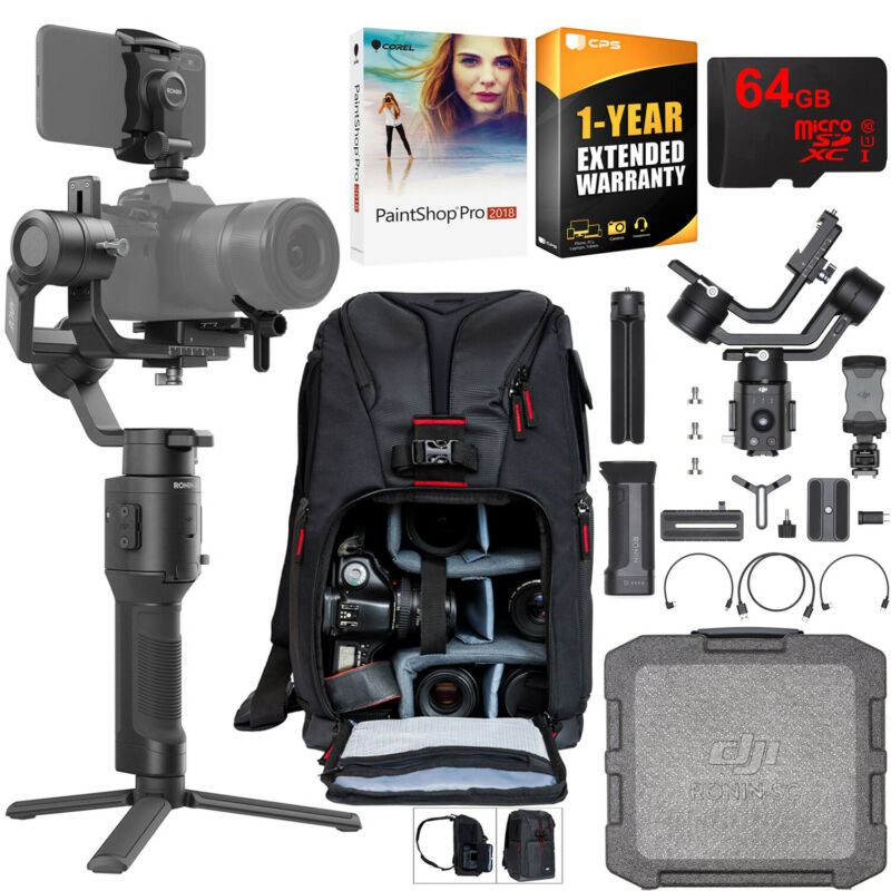 DJI Ronin-SC 3-Axis Handheld Gimbal for Mirrorless Cameras Pro Creative Bundle