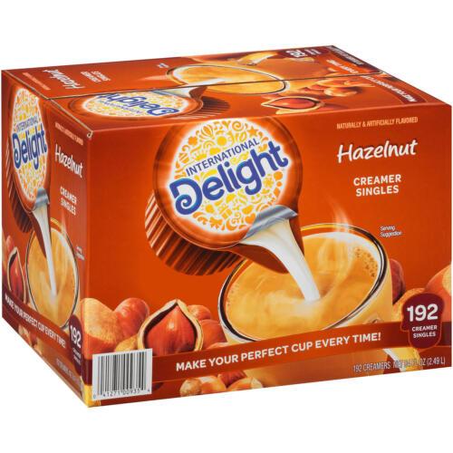 International Delight Hazelnut Coffee Creamer Singles (192 ct.)