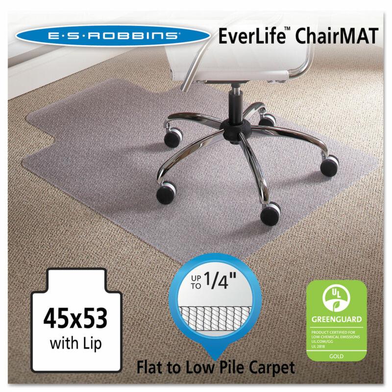 "Es Robbins 45 x 53 Lip Chair Mat Task Series AnchorBar for Carpet up to 1/4"""