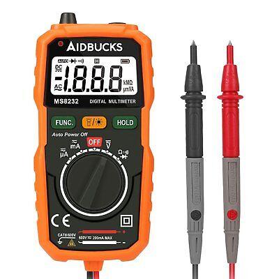Multimeter Digital Meter Amp Ohm Voltmeter Tester Fluke Batter Auto Lcd Acdc Us